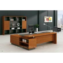 2016 Modern Golden Teak Melamine Executive Table with Side Table (HF-BS1615)
