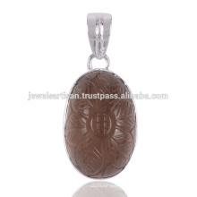 Joyería de plata sólida de la piedra preciosa 925 de Fluroite pendiente