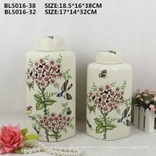 Decoración casera que cae el paquete seguro Florero de China del procelain para el ornamento del diseño interior