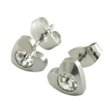 Vente en gros de mode 316L en acier inoxydable CZ Stud Earrings