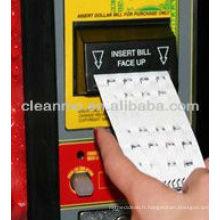 "(chaud) Dollor Bill Validator Flocked Cartes de nettoyage (vente directe d'usine) ""J"""