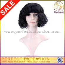 Produtos mais recentes no mercado grande grosso cabelo curto virgem peruca de cabelo humano