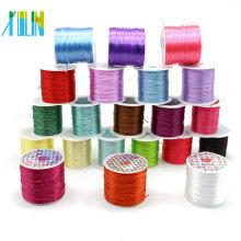 Stretch rebordea la cuerda elástica de TPU para la pulsera, cadena de color elástico plana de la leche para la joyería DIY ZYL0012