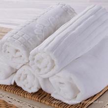 100% coton blanc serviette de plancher d'hôtel