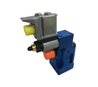 Proportional pressure relief valve pilot-operated