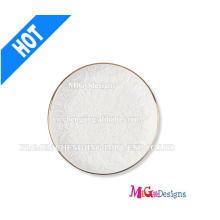 Prato de anel redondo cerâmico branco personalizado para presente de casamento