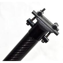 Poste do assento para dobrar o poste do assento da tábua de segurança em fibra de carbono da bicicleta para dobrar o suporte de bicicleta da bicicleta 33,9 * 580 mm