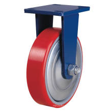Fixed Pu on Cast Iron Caster - Red (5505559)
