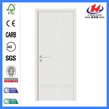 *JHK-F03 Commercial Frosted Glass Door Bathroom Flush Door White Oak Interior Doors