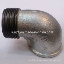 "1-1/2"" F&M Beaded Galvanized Elbow Malleable Iron Pipe Fittings"