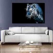 Pintura branca abstrata da impressão do tigre