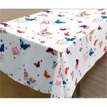 Neue Design Spunlace Unterstützung PVC Gedruckt Tischdecke Fabrik (TJ3D0004)