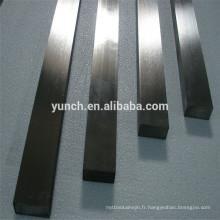 tige rectangulaire de tungstène pur pour l'industrie