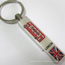 Porte-clés premium de souvenir de tourisme de Londres avec logo personnalisé (F5012)
