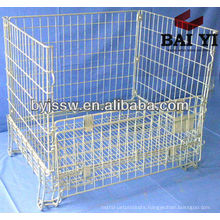 Metal Steel Storage Cage With Wheels