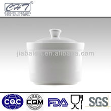 hotel & restaurant ceramic sugar pot with cover
