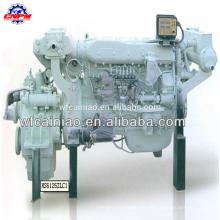 weifang venda quente 6 cilindros motor diesel marinho