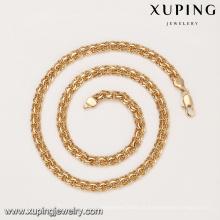 43937 xuping site alibaba top quality estilo simples Eco liga de cobre pesado 18 k ouro chian colar