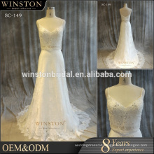 2016 China Dress Manufacturer white color wedding dress