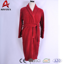 Custom quality cotton solid color bathrobe luxury hotel bathrobe