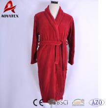 Пользовательские качество хлопок сплошной цвет халат купальный халат роскошной гостиницы