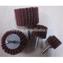 varios tamaños de rueda de aleta abrasiva con mango