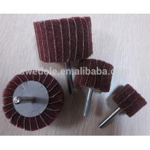 différentes tailles abrasives rabat roue avec queue