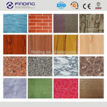 Wooden camouflage brick grain granite flower patterns special printing color coated steel sheets for metal roofing materials