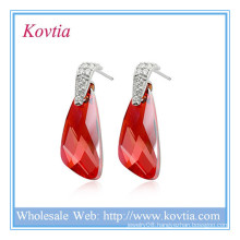 HOT SALE 925 sterling silver jewelry wholesale earring red love bird earring 925 silver earring