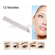 High quality embroidery 12 pins microblading needle, tattoo microblading needle, permanent makeup microblading blades