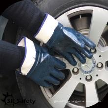 SRSAFETY 3 раза окунание нитрильной защитной перчаточной защитной перчатки