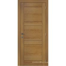 Porta exterior personalizada, porta de madeira rústica do folheado da porta home da entrada do projeto