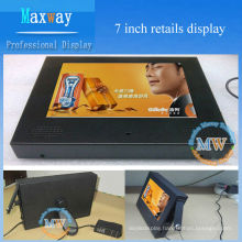 7 inch portable advertising display