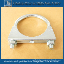 Galvanized Steel Exhaust U Bolt Pipe Clamps