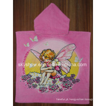 Toalha de banho Poncho com impressão personalizada (SST0371)
