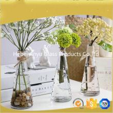 Heißer Verkaufs-freie Glasvase / Hauptdekoration-Blumen-Glasvase mit Blume