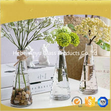 Стеклянная ваза для цветов и домашнего стекла