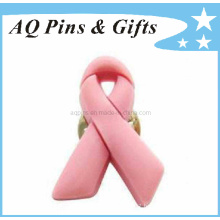 High Quality Soft PVC Pink Ribbon Awareness Pin (Pin-01)