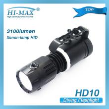 HI-MAX HID xenon-lamp waterproof diving flashlight (HD10)