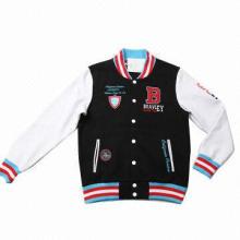 Varsity baseball jacket with embroidery