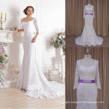 Sweetheart 3/4 Sleeve Robe De Mariage Wedding Dresses