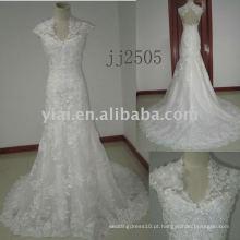 JJ2505 nova chegada bordou vestidos de noiva de renda A-line 2011