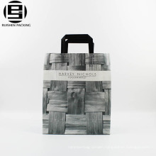 Gray cool clean trendy plastic Loop Handle bag
