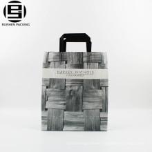 Gray cool clean trendy plastic Loop Handle bag