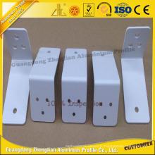 Pièces en aluminium de revêtement de poudre de poinçon de commande numérique par ordinateur pour le profil de décoration