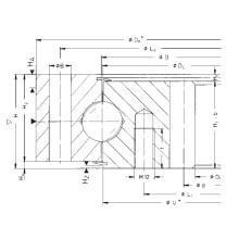 Rothe Erde Engrenagem interna rolamentos de rolamento de esferas simples 062.40.1700.008.29.1503
