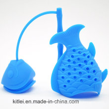 Popular Brew Fish Tea Infuser Tea Filter and Strainer with Blue Color