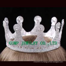 2016 День рождения Кристалл Tiara Белый Rhinestone Crown
