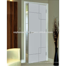 Porte d'intérieur laquée à rayures modernes à rayures