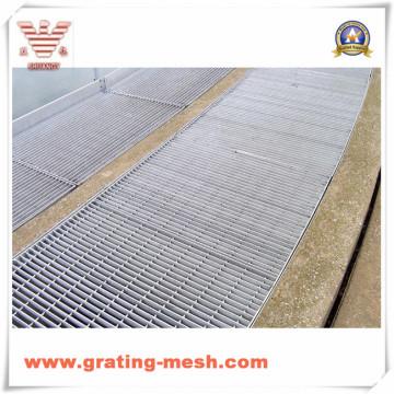 Grade de barra de aço galvanizado para passarela (SGS)